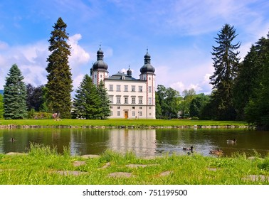 Vrchlabi palace in Giant  Mountains in Bohemia