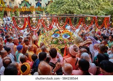 Vrindavan, 22 October 2016: Govardhan puja celebrated in Vrindavan, UP