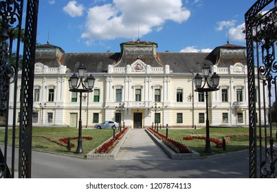 Vrsac city, Vojvodina, Serbia is located on the border between Serbia and Romania in Banat region. Building of Orthodox Eparchy from 18th century, built in the Baroque style.