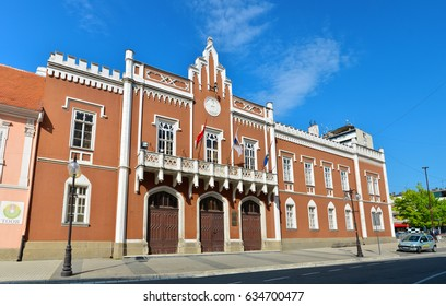 VRSAC, SERBIA - 04.30.2017: city hall facade landmark architecture