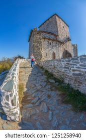 VRSAC, SERBIA - OCTOBER 22, 2017: Vrsac town fortress in Serbia, called kula. Landmark architecture on Vojvodina district.