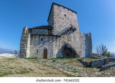 Vrsac town fortress in Serbia, called kula. Landmark architecture on Vojvodina district.
