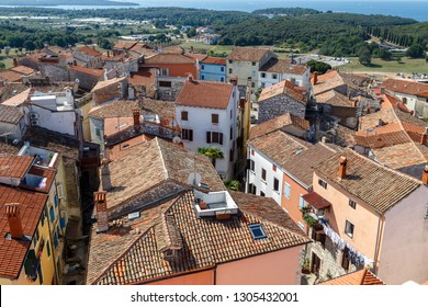 VRSAR / CROATIA - AUGUST 2015: View to the old town of Vrsar, Istria, Croatia