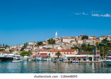 Vrsar harbour on the Adriatic sea in Istria, Croatia