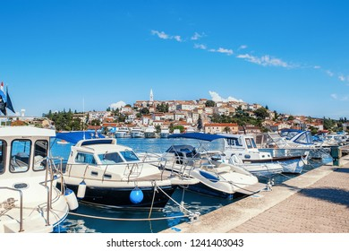 Vrsar harbour on the Adriatic sea in Istria, Croatia