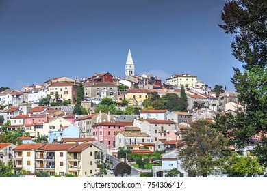Vrsar, Istria, Croatia, view to ancient town