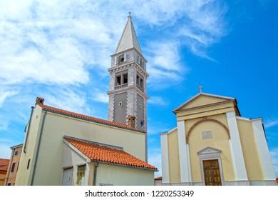 Vrsar, town in Istria, Croatia - church tower