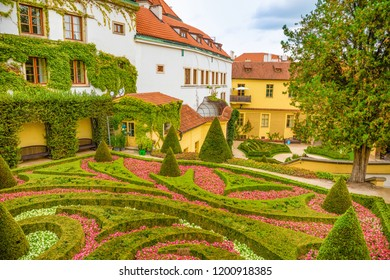Vrtba garden or Vrtbovska zahrada in old town of Prague in Czech Republic - Shutterstock ID 1200918385