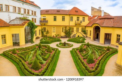 Vrtba garden or Vrtbovska zahrada in old town of Prague in Czech Republic - Shutterstock ID 1200918397