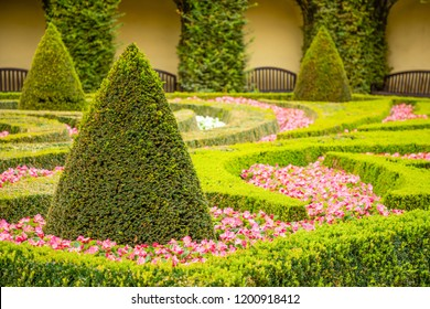 Vrtba garden or Vrtbovska zahrada in old town of Prague in Czech Republic - Shutterstock ID 1200918412