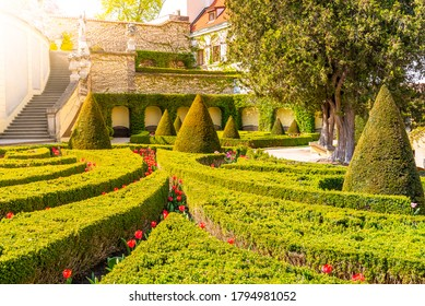 Vrtbovska garden - beautiful baroque garden multiple terraced platforms, Lesser Town of Prague, Czech Republic. - Shutterstock ID 1794981052