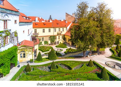 Vrtbovska garden - beautiful baroque garden multiple terraced platforms, Lesser Town of Prague, Czech Republic. - Shutterstock ID 1815101141