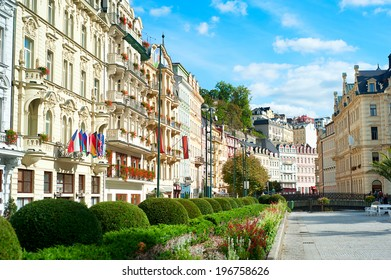 VUew of Old Town of Karlovy Vary, Czech Republic