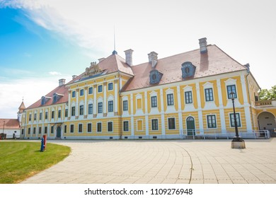 VUKOVAR, CROATIA - MAY 14, 2018 : View of the City museum located in the Eltz castle in Vukovar, Croatia.