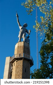 Vulcan, The Roman God of Iron looks over the city of Birmingham, Alabama.