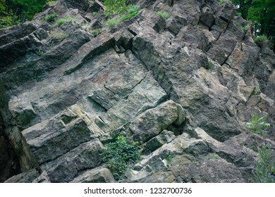 Vulcanic rocks Rupnica in Papuk Nature Geo Park, Slavonia. Croatia, Europe