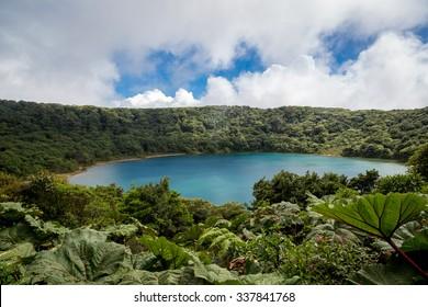 Vulcano Poas crater in Costa Rica, Central America.