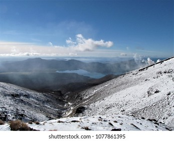 Vulkano and vulcanic area in winter
