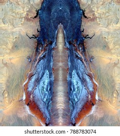 the vulva of the desert princess, symmetrical photographs of abstract landscapes of the deserts of Africa from the air, magical, artistic, landscapes of your mind, just for crazy, optical illusions