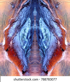 the vulva of the desert queen, symmetrical photographs of abstract landscapes of the deserts of Africa from the air, magical, artistic, landscapes of your mind, just for crazy, optical illusions