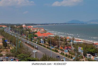 VUNG TAU, VIETNAM, April 26, 2015 Vung Tau Sea, central, Vietnam
