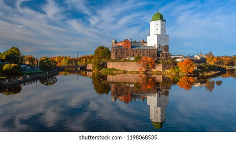 Vyborg castle in autumn