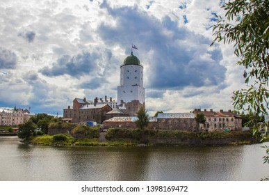 Vyborg Castle in cloudy weather, Vyborg