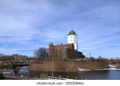Vyborg Castle the Swedish castle in Vyborg, tower of St. Olav at Leningradskaya oblast, Russia.