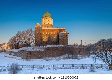 Vyborg Castle is a Swedish-built medieval fortress around which the town of Vyborg (today in Russia) evolved. The first record of the castle dates back to 1293.