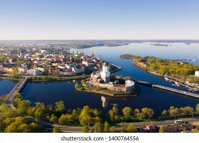 Vyborg city. View of the Vyborg Castle.