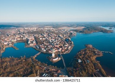 Vyborg city view from a height