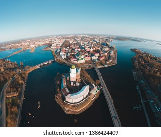 Vyborg panorama of large size. Top view