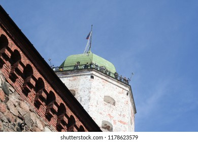 Vyborg, Russia - 05-07-2016: Sightseeing of Russia. Vyborg Castle. Medieval fortress castle in Vyborg town. Architectural landmark, Vyborg, Russia