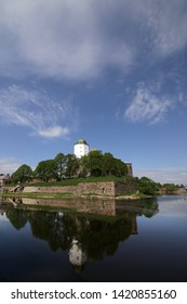 Vyborg, Russia - 05/21/2019: view of the 13th century Vyborg Castle.