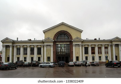 VYBORG, RUSSIA - OCT 25, 2009: View on the building of Vyborg railway station