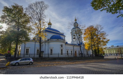 Vyborg, Russia - Oct 6, 2016. Old church in Vyborg, Russia. Vyborg stands at the head of Vyborg Bay of the Gulf of Finland, 113 km northwest of St. Petersburg.