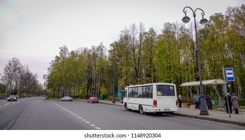 Vyborg, Russia - Oct 6, 2016. Cars on street at autumn in Vyborg, Russia. Vyborg is 174km northwest of St Petersburg and just 30km from the Finnish border.