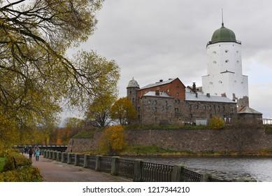 VYBORG, RUSSIA - OKTOBER 21, 2018: Vyborg Castle.