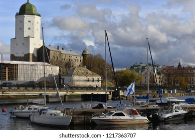 VYBORG, RUSSIA - OKTOBER 21, 2018: View of the Vyborg gulf.