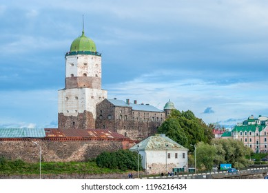 Vyborg, Russia - SEPTEMBER 28 2014: Vyborg castle at Vyborg in summer