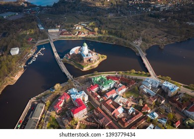 Vyborg to see from a height old town
