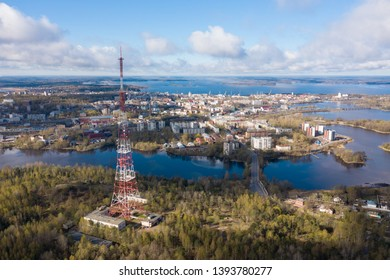 Vyborg to see from a height Radio antenna
