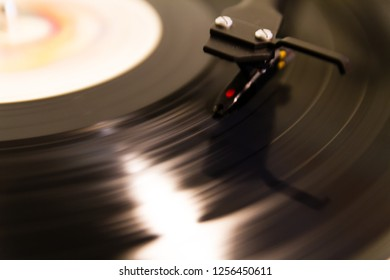 Vynil record on a turntable