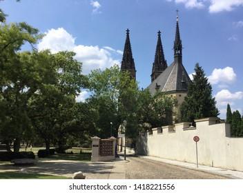 Vysehrad district in Prague, Czech Republic