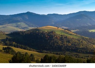 Vysoky vrch mountain in Pieniny National Park in Slovakia.