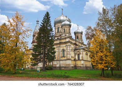 Vytegra, Russia - Sep 16, 2012: Church Stritennya of Lord in city of Vytegra. North Of Russia. Architectural monument, built in 1873