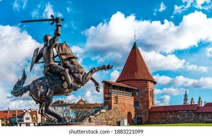"""Vytis"" horse in Kaunas city, Lithuania, Kaunas castle"