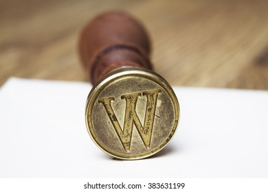 W letter stamp