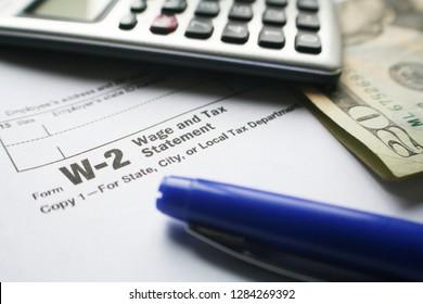 W-2 Employer Tax Form