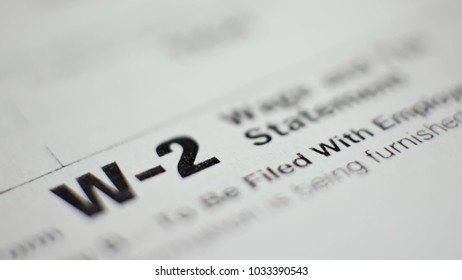 W-2 Tax Form with Pen in 2017